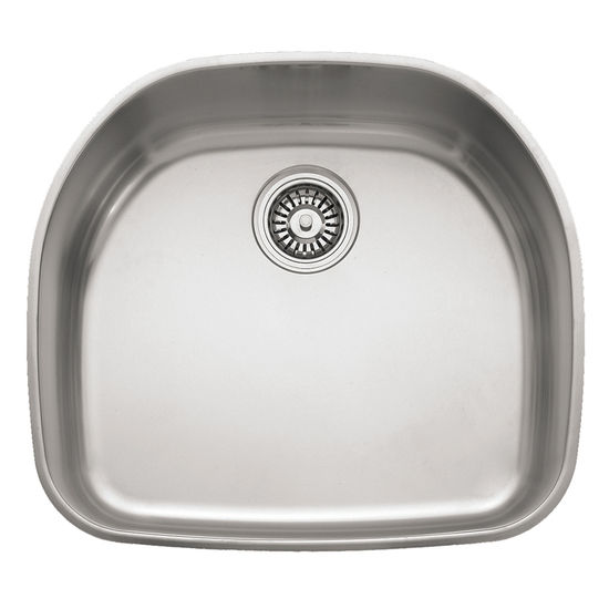 "Franke Prestige Stainless Steel Single Bowl Undermount Sink, 7-5/16"" h"