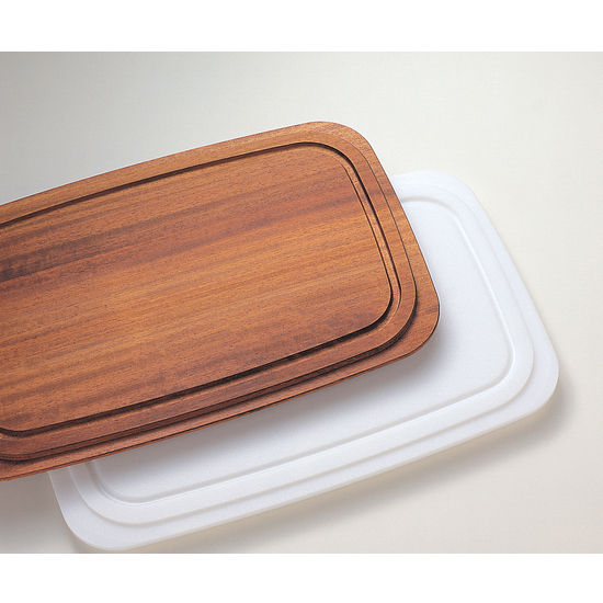 Prestige White Synthetic and Solid Wood Cutting Board