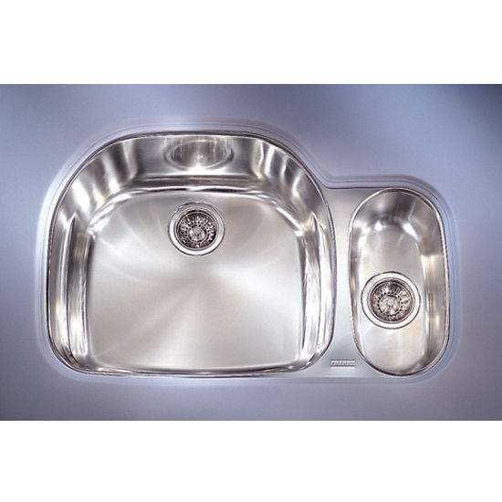 Franke Prestige Double Bowl Undermount Sink, Right Hand