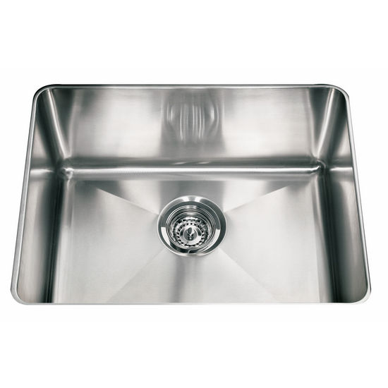"Franke Professional Series Single Bowl Undermount Sink,16 Gauge, Stainless Steel, 22-1/2"" W x 17-5/8"" D"