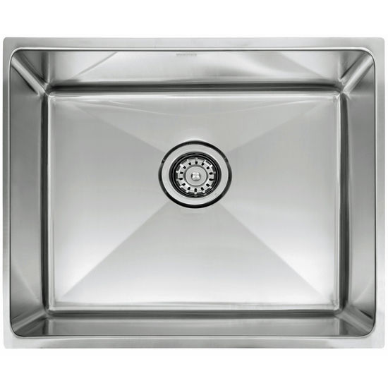 "Franke Professional Series Single Bowl Undermount Sink,16 Gauge, Stainless Steel, 25-1/2"" W x 17-5/8"" D"