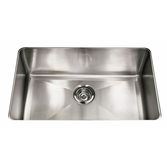 "Franke Professional Series Single Bowl Undermount Sink,16 Gauge, Stainless Steel, 29-1/8"" W x 18-1/8"" D"