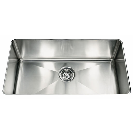 "Franke Professional Series Single Bowl Undermount Sink,16 Gauge, Stainless Steel, 31-7/8"" W x 18-1/8"" D"
