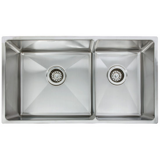 "Franke Professional Series Double Bowl Undermount Sink,16 Gauge, Stainless Steel, 31-7/8"" W x 18-1/8"" D"