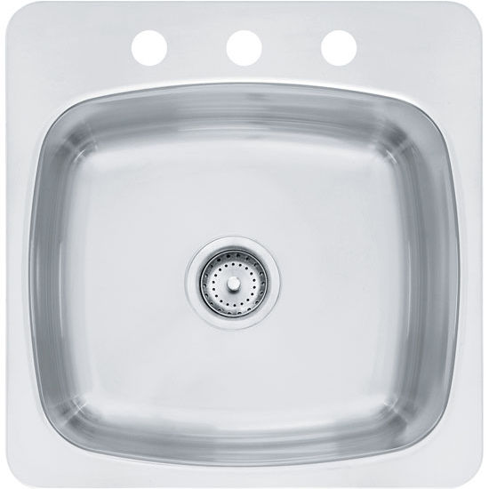 Axis single bowl drop in kitchen sink made of 20 gauge silk steel franke axis single bowl drop in kitchen sink silk stainless steel workwithnaturefo