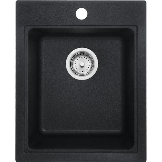 Franke Quantum Single Bowl Drop In Kitchen Sink, Granite, Fragranite Onyx