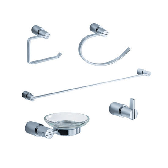 Fresca Magnifico Wall Mounted 5-Piece Bathroom Accessory Set in Chrome