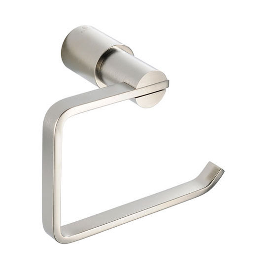 "Fresca Magnifico Wall Mounted Toilet Paper Holder in Brushed Nickel, Dimensions: 5-1/2"" W x 3"" D x 4-1/4"" H"
