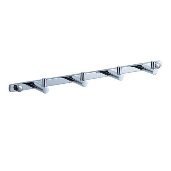 """Fresca Magnifico Wall Mounted Robe Hooks (x4) in Chrome, Dimensions: 13.39"""" W x 1-5/8"""" D x 1"""" H"""