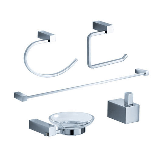 Fresca Ottimo Wall Mounted 5-Piece Bathroom Accessory Set in Chrome
