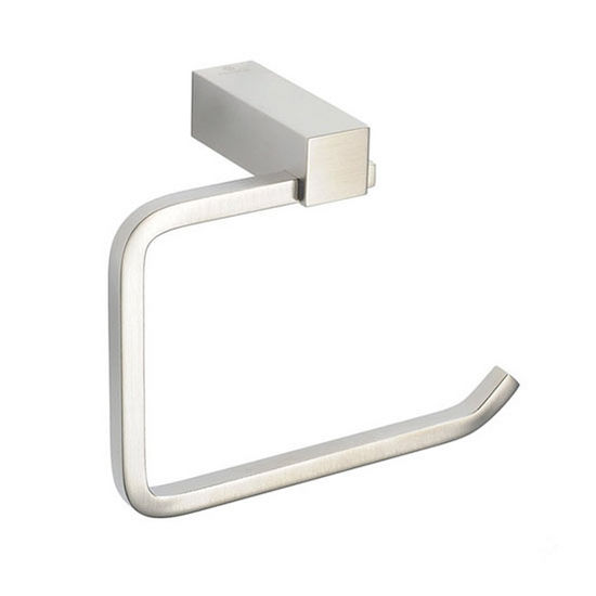 """Fresca Ottimo Wall Mounted Toilet Paper Holder in Brushed Nickel, Dimensions: 5-3/4"""" W x 2-1/2"""" D x 4-1/2"""" H"""