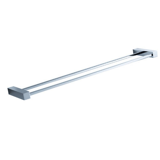 "Fresca Ottimo Wall Mounted 21"" Double Towel Bar in Chrome, Dimensions: 21-5/8"" W x 4-3/8"" D x 1"" H"