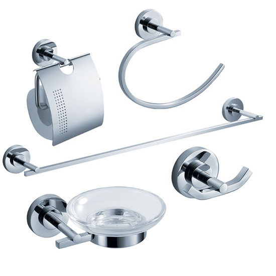 Fresca Alzato Wall Mounted 5-Piece Bathroom Accessory Set in Chrome