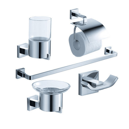 Fresca Glorioso Wall Mounted 5-Piece Bathroom Accessory Set in Chrome