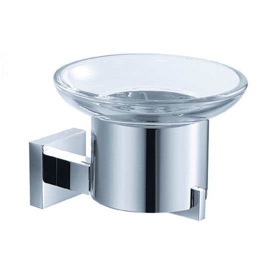 "Fresca Glorioso Wall Mounted Soap Dish in Chrome, Dimensions: 4-1/4"" W x 4-7/8"" D x 3-1/2"" H"