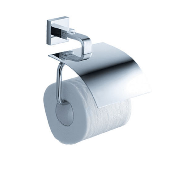 """Fresca Glorioso Wall Mounted Toilet Paper Holder in Chrome, Dimensions: 5-3/4"""" W x 6-1/2"""" D x 4-3/4"""" H"""