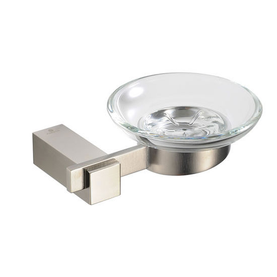 """Fresca Ellite Wall Mounted Soap Dish in Brushed Nickel, Dimensions: 6"""" W x 4-3/4"""" D x 2"""" H"""