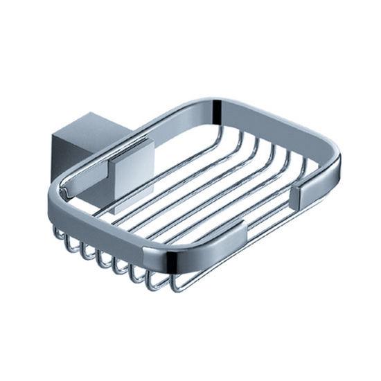 "Fresca Ellite Wall Mounted Soap Basket in Chrome, Dimensions: 4-3/4"" W x 4-1/2"" D x 1-1/4"" H"