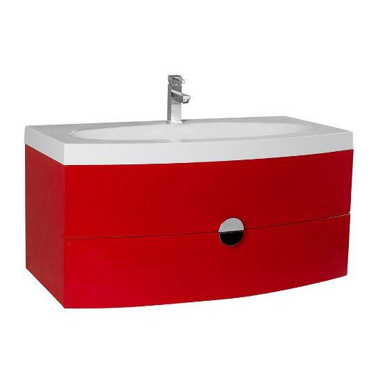 Energia 36 39 39 Modern Wall Mounted Bathroom Vanity W Panel Folding Mir