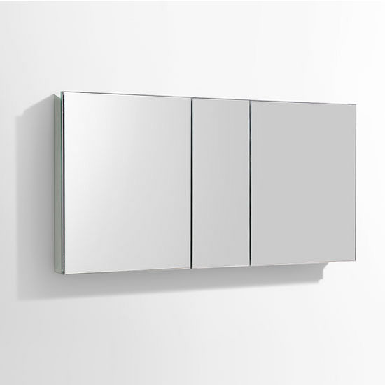 Wall Mounted Medicine Cabinet Mirror 50'' wide bathroom wall mounted medicine cabinet w/ mirrors