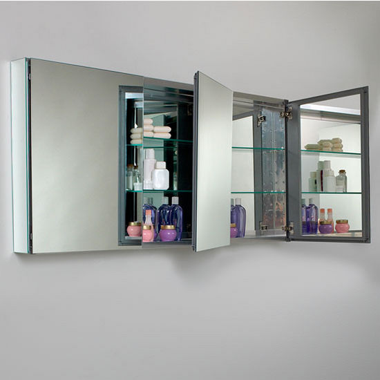 60 Wide Bathroom Wall Mounted Medicine Cabinet W Mirrors By Fresca Kitchensource Com