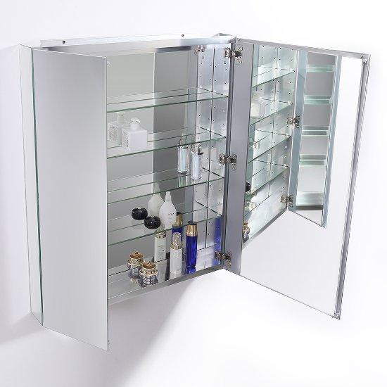 30 Wide X 36 Tall Anodized Aluminum Bathroom Medicine