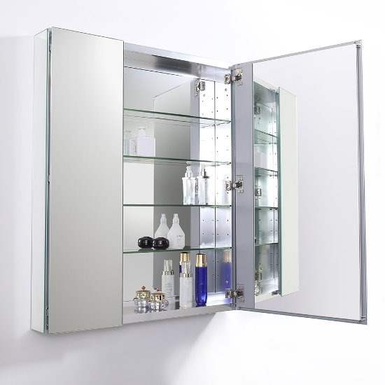 30 Wide X 36 Tall Anodized Aluminum Bathroom Medicine
