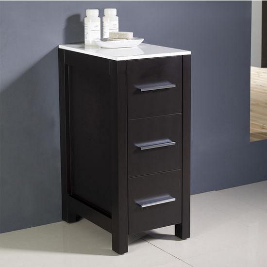 Torino 12 39 39 freestanding bathroom linen side cabinet by - Freestanding bathroom linen closet ...