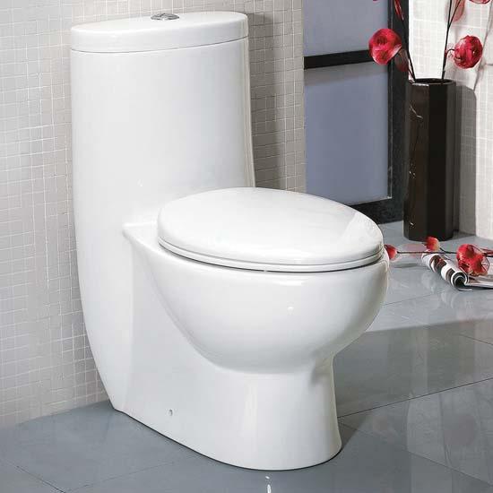 """Fresca Delphinus One-Piece Dual Flush Toilet, Soft Close Seat, Elongated Bowl, 0.8/1.6 GPF Capacity, 15-1/2""""W x 28-1/2""""D x 30-1/4""""H"""