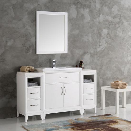 Cambridge 54 39 39 Traditional Bathroom Vanity W Mirror Set By Fresca