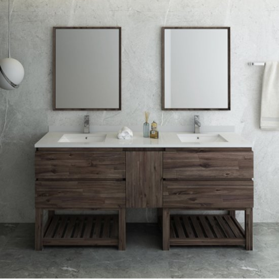 Formosa 60 72 Or 84 Wide Floor Standing Double Sink
