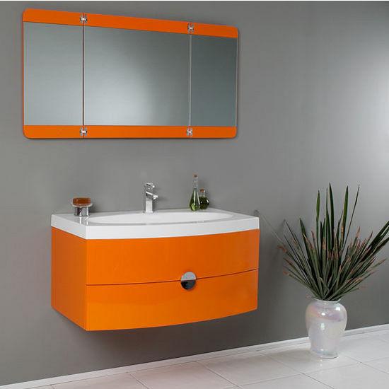 Energia 36 Modern Wall Mounted Bathroom Vanity W Panel Folding