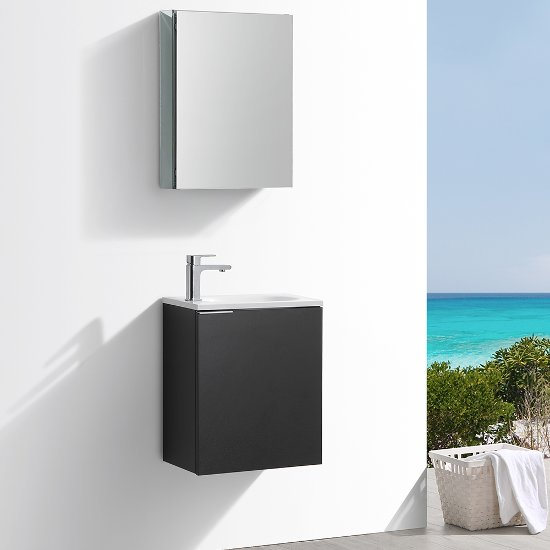 Valencia 20 Wall Hung Modern Bathroom Vanity W Medicine Cabinet