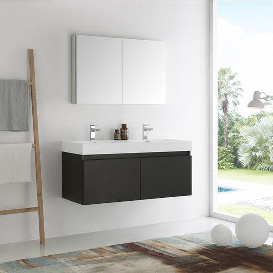 Black Vanity Set w/ Medicine Cabinet