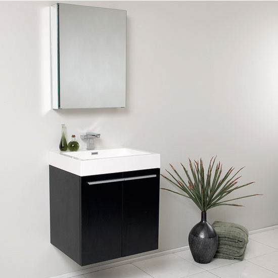 Alto 23 Modern Wall Mounted Bathroom Vanity W Medicine Cabinet