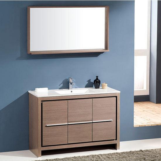 Gray Oak W/ Mirror
