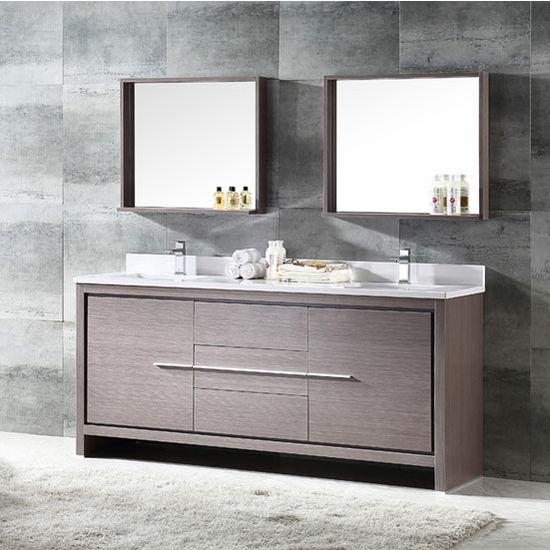 gray oak modern double sink bathroom vanity mirror dimensions set