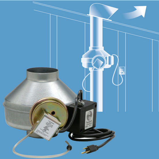 Range Hoods Dryer Booster Kit Includes Inline Duct Fan With Galvanized Steel Construction By