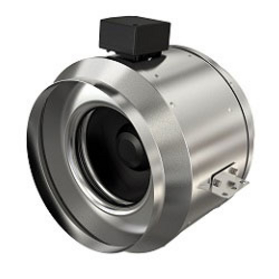 "Fantech Inline Mixed Flow Fan for 8"" - 18"" Duct with 836 - 6236 CFM"