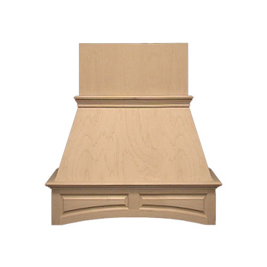 Air-Pro (Formerly Fujioh) Arched Raised Panel Island Mount Wood Range Hood