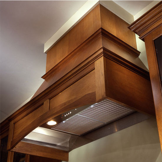 Air-Pro (Formerly Fujioh) Arched Raised Panel Wall Mount Wood Range Hood