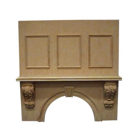 Air-Pro (Formerly Fujioh) Keystone Mantle Wall Mount Wood Range Hood