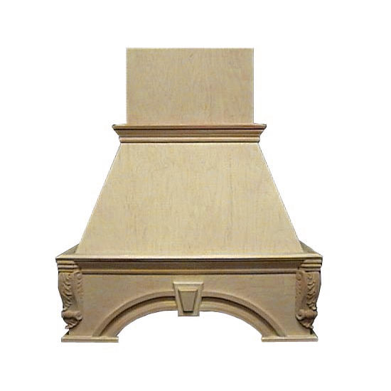 Air-Pro (Formerly Fujioh) Decorative Keystone Island Mount Wood Range Hood