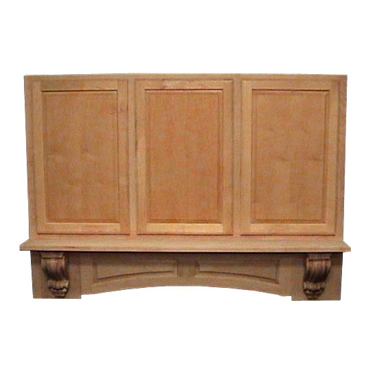 Air-Pro (Formerly Fujioh) Decorative Mantle Wall Mount Wood Range Hood With Corbels