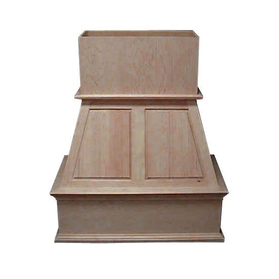 Air-Pro (Formerly Fujioh) Upper Raised Panel Island Mount Wood Range Hood