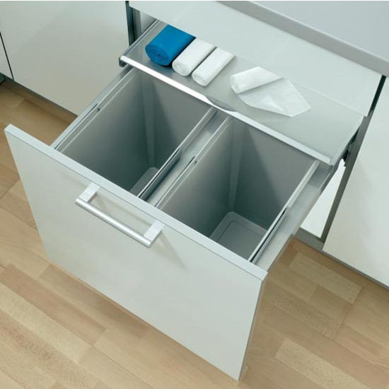 Fulterer Eco Liner Easy Close Waste Basket Pull Out