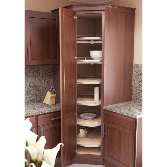 Kitchen Cabinets Upper Corner: Vauth-Sagel Corner Maxx Round Lazy-Susan Tray Set With