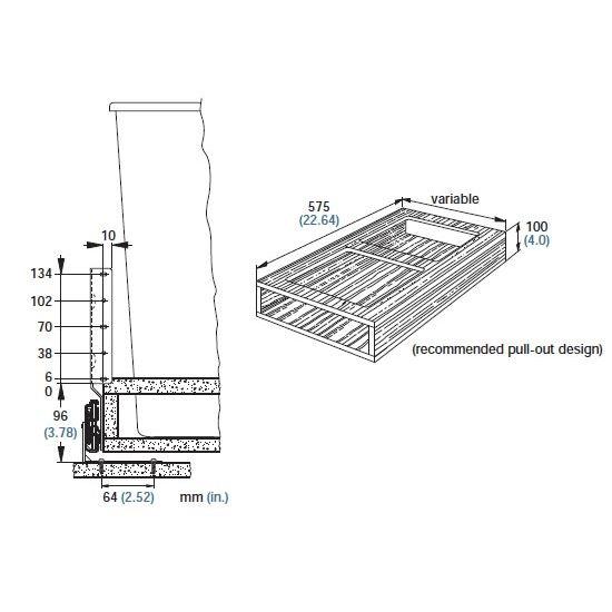 Drawer Slide Bottom Mount Drawer Slides Full Extension