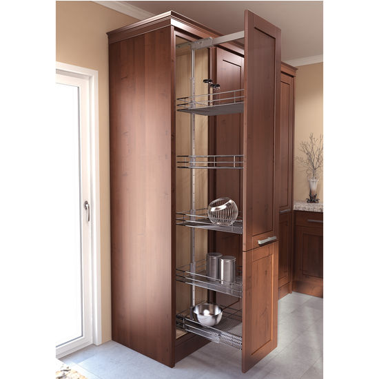 Pantry Cabinet Pull-Out System With EZ Close Dampening
