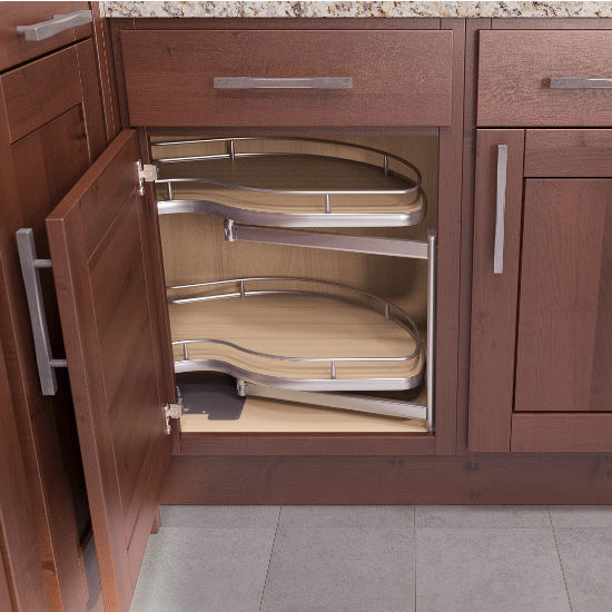Kitchen Cabinet Organizers Twin Corner Base Cabinet